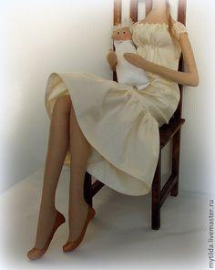 Человечки ручной работы. Мамочка моя. Светлана Бедненко. Интернет-магазин Ярмарка Мастеров. Маме, интерьерная кукла, тряпиенс, бязь