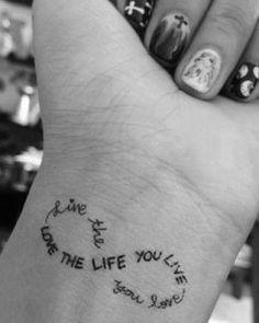 Wrist Tattoo - Nice Message