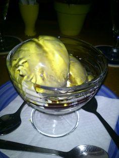 Helado de vainilla con aceite de pipa de calabaza de Austria. #LaLlardeBarbara #Calpe