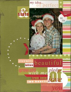 scrapbook layouts for couples   perfect christmas couple by jaime lynne 28 aug 06
