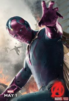 AVENGERS: AGE OF ULTRON — Vision Finally Gets a Character Poster