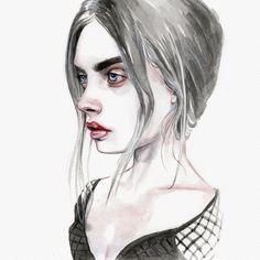 Cara Sketch by Tomasz-Mro.deviantart.com on @DeviantArt