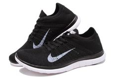 NIKE FLYKNIT 4.0 Women's Running Shoes - All-Black