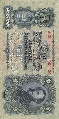 Legal Tender, Banknote, Taps, Hungary, Ephemera, Nostalgia, Coins, Design, Golden Roses