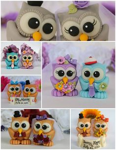 Wedding owl cake topper love bird with by PerlillaPets on Etsy