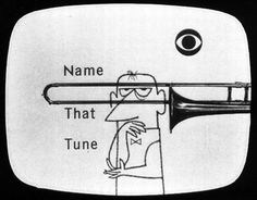 "midcenturia: "" Name That Tune, Illustration by Arnold Blumberg, 1952 """
