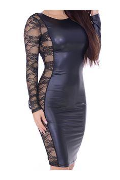 Back To Search Resultswomen's Clothing Frugal Sexy Pu Striped Black Bandage Dress Cap Sleeve V Neck Short Sleeve Elegant Mini Sheath Panel Femme Dress