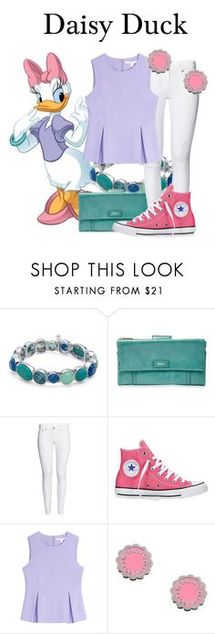 """""""Daisy Duck"""" by megan-vanwinkle ❤ liked on Polyvore featuring Nine West, FOSSIL, H&M, Converse, Diane Von Furstenberg and Marc by Marc Jacobs"""