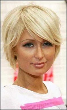 Side-Swept-Short-Blonde-Hair.jpg 500×816 pixels | Hair | Pinterest ... | Einfache Frisuren