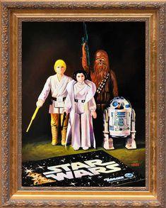 star wars retro painting #starwars