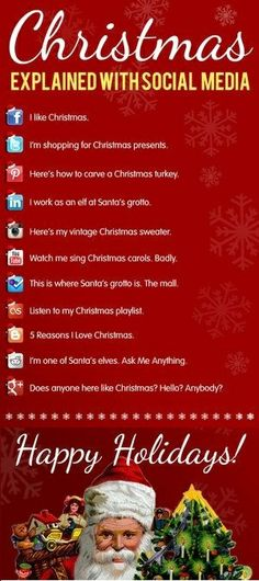 Christmas Explained With Social Media.