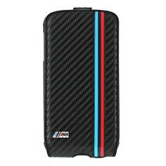 BMW Motorsport Carbon Flapcase [M Stripes], Etui z klapką dla GALAXY S4