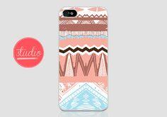 AZTEC PATTERN - iPhone 4, iPhone4s, iPhone 5, iPhone 5s Case #tribal #aztec #southwest #southwestern #pink #hip #trendy #handmade #case #iphone