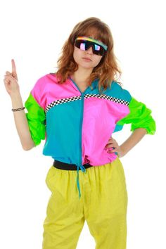 Vintage 90s Neon Windbreaker Jacket | Get your vintage 80s and 90s party clothes and all manner of outrageous threads at Shinesty.com