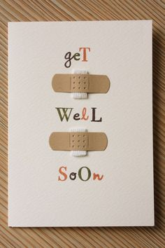 Get Well Soon Card using Bandaids