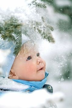 Baby's first snow! <3