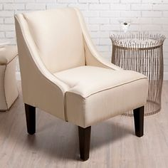 Colin Cowie Upholstered Shantung Chair at HSN.com.