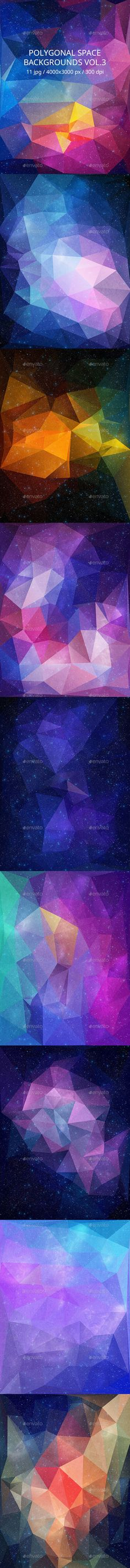 11 Polygonal Space Backgrounds. Download here: http://graphicriver.net/item/polygonal-space-backgrounds-vol3/10936737?ref=ksioks