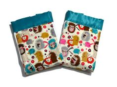 Baby Boy Burp Cloth Baby Girl Burp Cloth set with by HattieDesigns, $14.00
