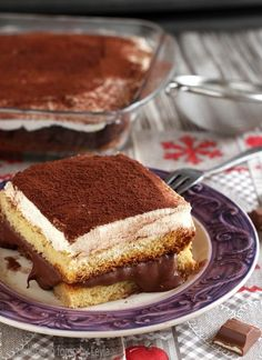 Pandoro tiramisu with nutella and chantilly cream Dulcisss in the oven by Leyla Italian Cake, Italian Desserts, Easy Desserts, Dessert Recipes, Bakery Recipes, Wine Recipes, Tiramisu, Glaze For Cake, Confort Food