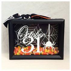 Halloween Shadow Box by BlocksPaperPaint on Etsy, $20.00