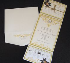 These invitations, made for a Tuscan themed wedding, had a very organic, natural feel.The swirling vine design made the invitations softer and more intricate. Paisleyquill.com