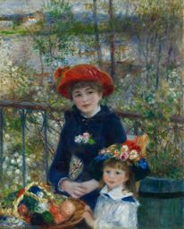 Pierre-Auguste Renoir (1841-1919)  Two Sisters (On the Terrace) 1881