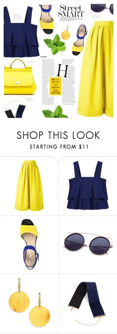 """""""Palazzo"""" by allaboutno ❤ liked on Polyvore featuring Delpozo, Tory Burch, Geox, Gurhan and Dolce&Gabbana"""