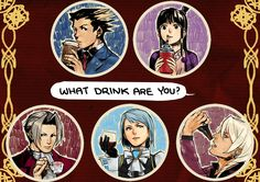 datworks: Ace Attorney badges by ~chisuuKei on deviantART