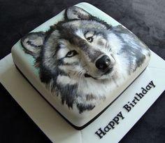Wolf cake - Kids Party Food -Ideas - Cuisine et Boissons Happy Birthday Wolf, Wolf Cake, Animal Cakes, Gateaux Cake, Dog Cakes, Painted Cakes, Novelty Cakes, Fondant Cakes, Fondant Bow