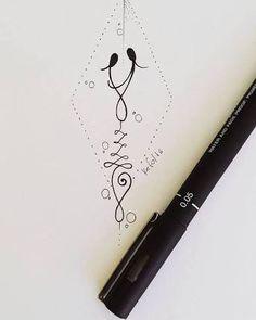 Resultado de imagem para desenho mae e filha tattoo Mutterschaft Tattoos, Side Tattoos, Body Art Tattoos, Small Tattoos, Cool Tattoos, Unalome Tattoo, Mother Daughter Tattoos, Tattoos For Daughters, Make Tattoo