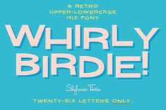 Check out Whirly Birdie 26 by Skyhaven Fonts on Creative Market