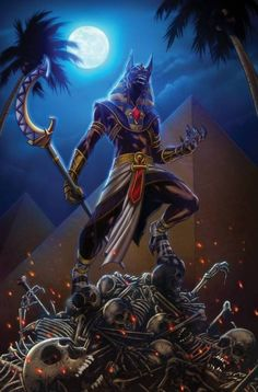 Zenescope Aims to Enslave Humanity in New Series - Bounding Into Comics Egyptian Mythology, Egyptian Symbols, Egyptian Art, Tatoo Anubis, Ancient Egypt Art, Geniale Tattoos, Dark Fantasy Art, Gods And Goddesses, Fantasy Creatures