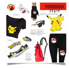 Pokemon Style by marina-volaric on Polyvore featuring polyvore, fashion, style, Converse and Pokemon