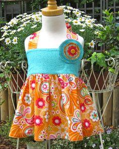 Schöne farbenfrohe Tunika/ Top mit Paradise Vögel und Blumenmuster, Applikation abnehmbar.  Alles in 100% Baumwolle. Die Stoffe werden vor der Ve...
