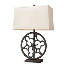Ironton 2 Light Table Lamp In Vintage Rust.