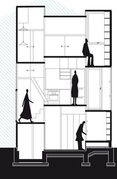 A fully realised version of a home without stairs, Fujimoto's building is based on a thin, split-level steel frame.