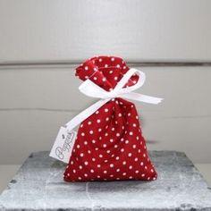 Doopsuiker Poppies - Doopsuikermand Poppie-Bag stip smal rood uit het thema Poppie-bags  -> zelf maken ?