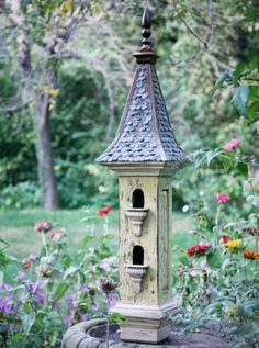 Victorian style birdhouse from Regal Roosts.