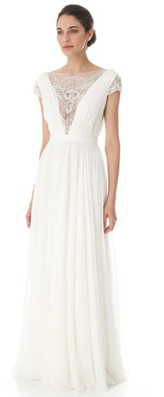 Reem Acra Bejeweled Wedding Gown