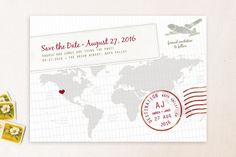 A Faraway Destination Save the Date Cards by bumble ink at minted.com