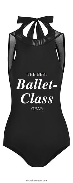 Stylish workout gear for a ballet barre class