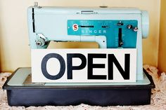 Open Sign: Craft Project - A Beautiful Mess Open Signs, Diy Shops, Blog Love, Beautiful Mess, Shop Signs, So Little Time, Craft Projects, Craft Ideas, Vintage Inspired