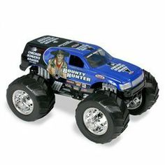 Hot Wheels: Monster Jam - Bounty Hunter in 1:24 Scale by Mattel. $25.00. large 1:24 scale. diecast body. These authentic, licensed Monster Jam trucks are packed with power, attitude and action. Featuring a slew of realistic details, Monster Jam trucks have die-cast bodies with a plastic chassis and roll cage, oversized tires with chrome-like rims and engines, push-around action, four-coil spring suspension and four-wheel steering that kids will love. Comes in 1:24 scal...
