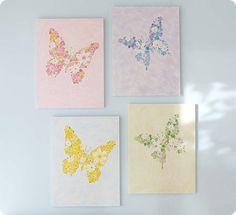 """DIY Butterfly Art for a """"Flower Garden"""" Girls Room"""