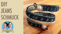 Armreif aus Jeans | Bracelet | Upcycling Schmuck