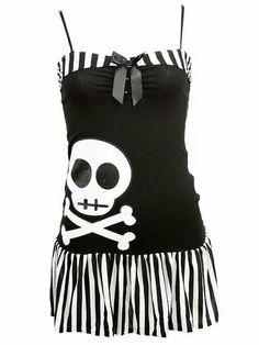 Cute flirty little skull dress