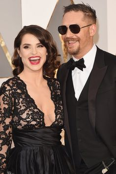 Pin for Later: Tom Hardy and Charlotte Riley Are the Oscars' Coolest Couple