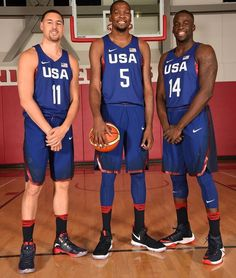 Klay Thompson, Kevin Durant, Draymond Green, Men's Olympic Team USA Basketball 2016