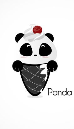 Ahhhh this is sooo cute! Panda Wallpapers, Cute Wallpapers, Cartoon Panda, Cute Cartoon, Kawaii Drawings, Cute Drawings, Panda Kawaii, Cute Panda Wallpaper, Panda Bebe
